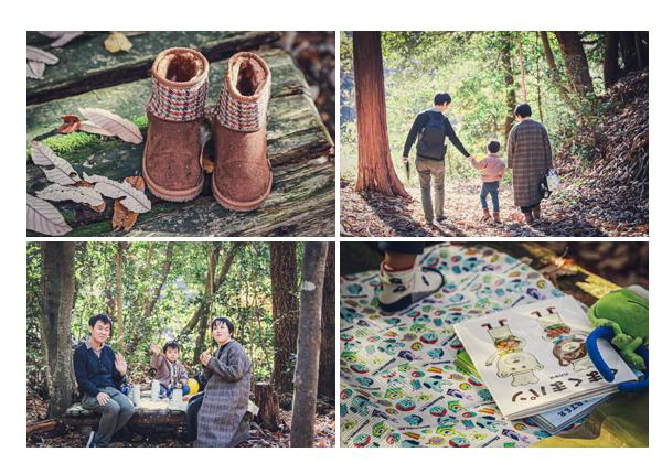海上の森でファミリーフォトのロケーション撮影 愛知県瀬戸市
