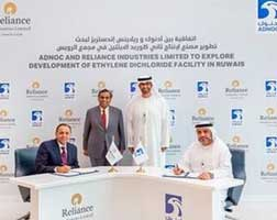 ADNOC/Reliance to develop PVC feedstock plant in UAE