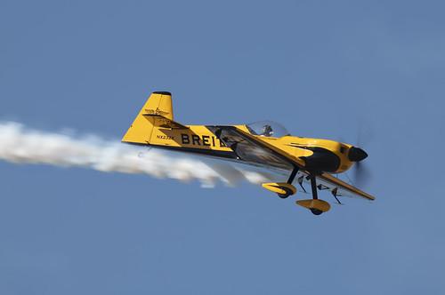 Breitling Stunt Plane Trailing Smoke
