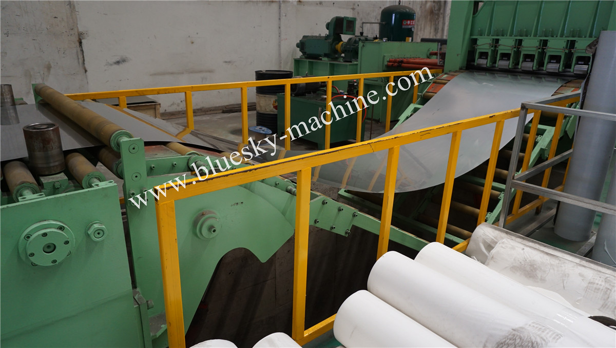 High Speed Stainless Steel Cut To Length Line Machine Hydraulic Loop Pit