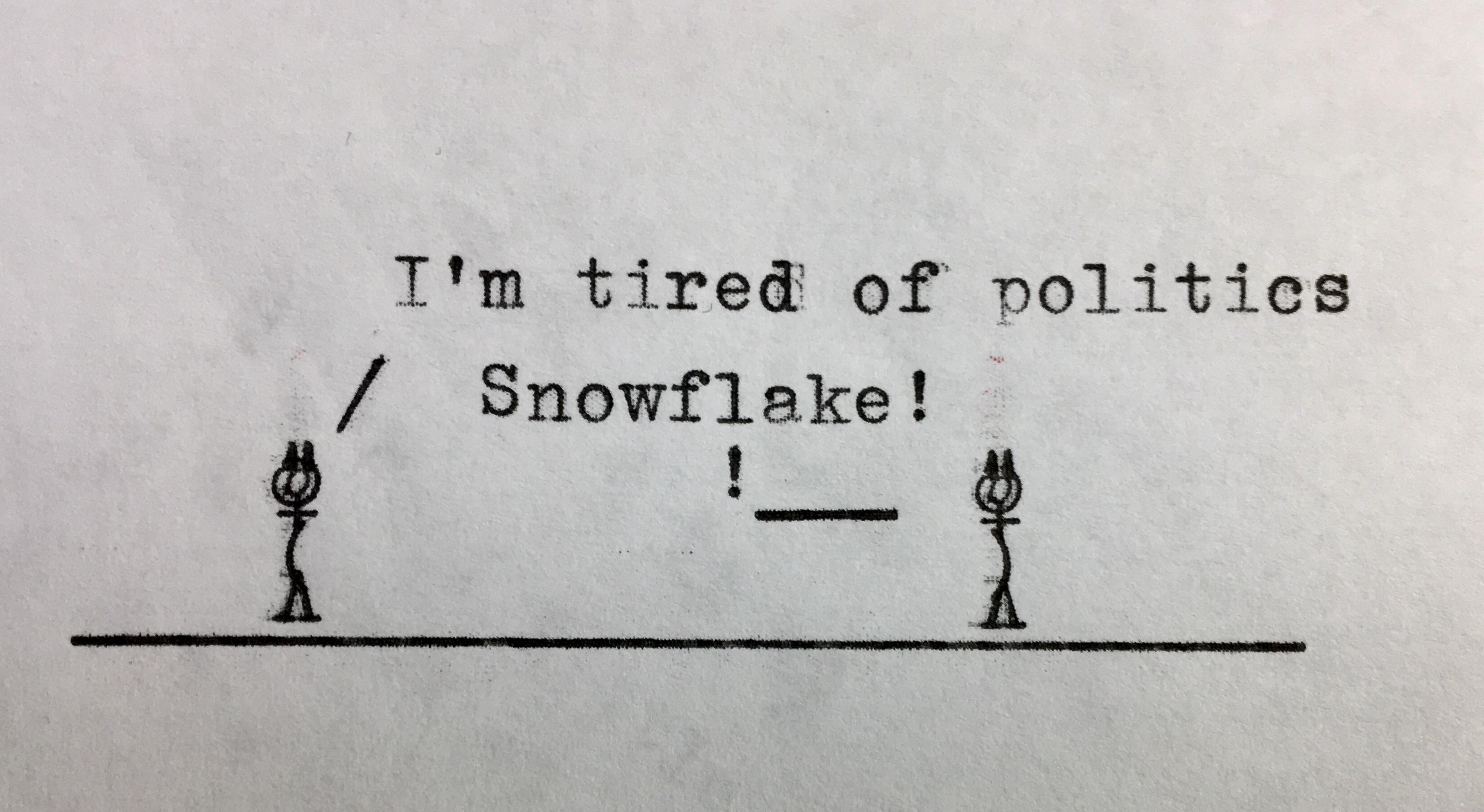 Typewritten Cartoon