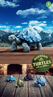 世界名山與龜殼的完美結合!熊貓之穴 「Mountain Turtles」山脈之龜 轉蛋( マウンテンタートルズ)全四款