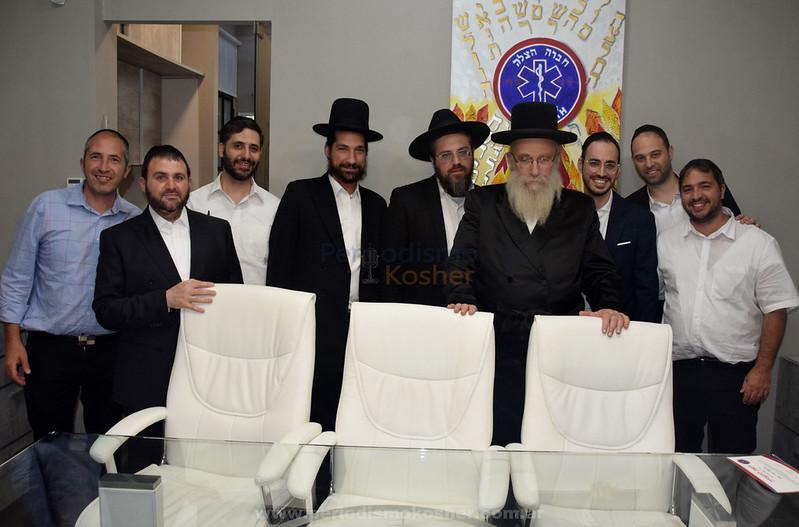 El Rab Shmuel Shteren visitó la base de Hatzalah Argentina