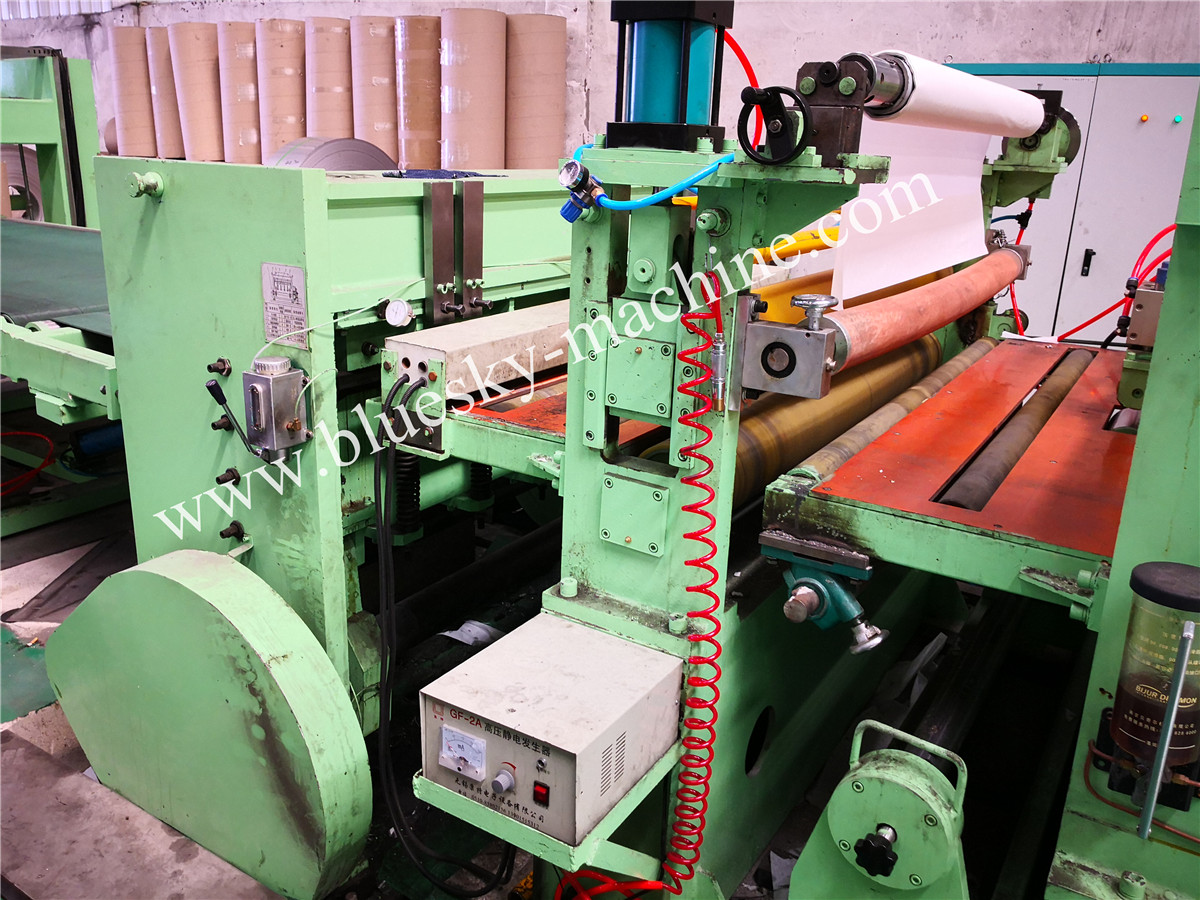 High Speed Stainless Steel Cut To Length Line Machine Film Laminator