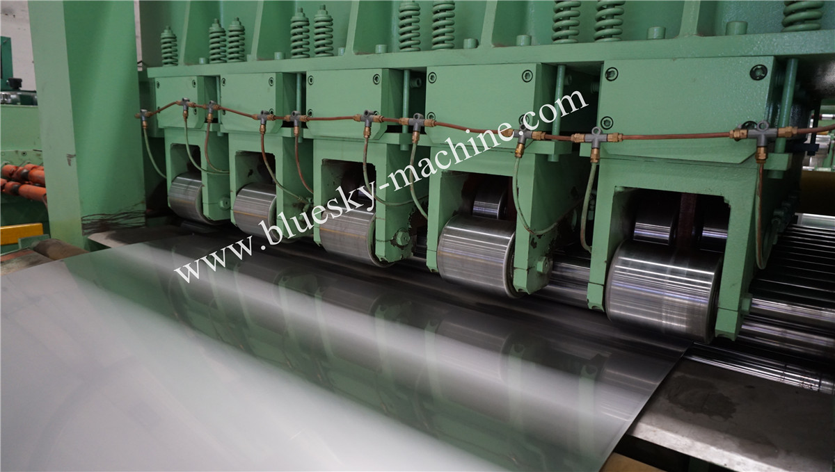 High Speed Stainless Steel Cut To Length Line Machine Hydraulic Snubber Roll & Shovel