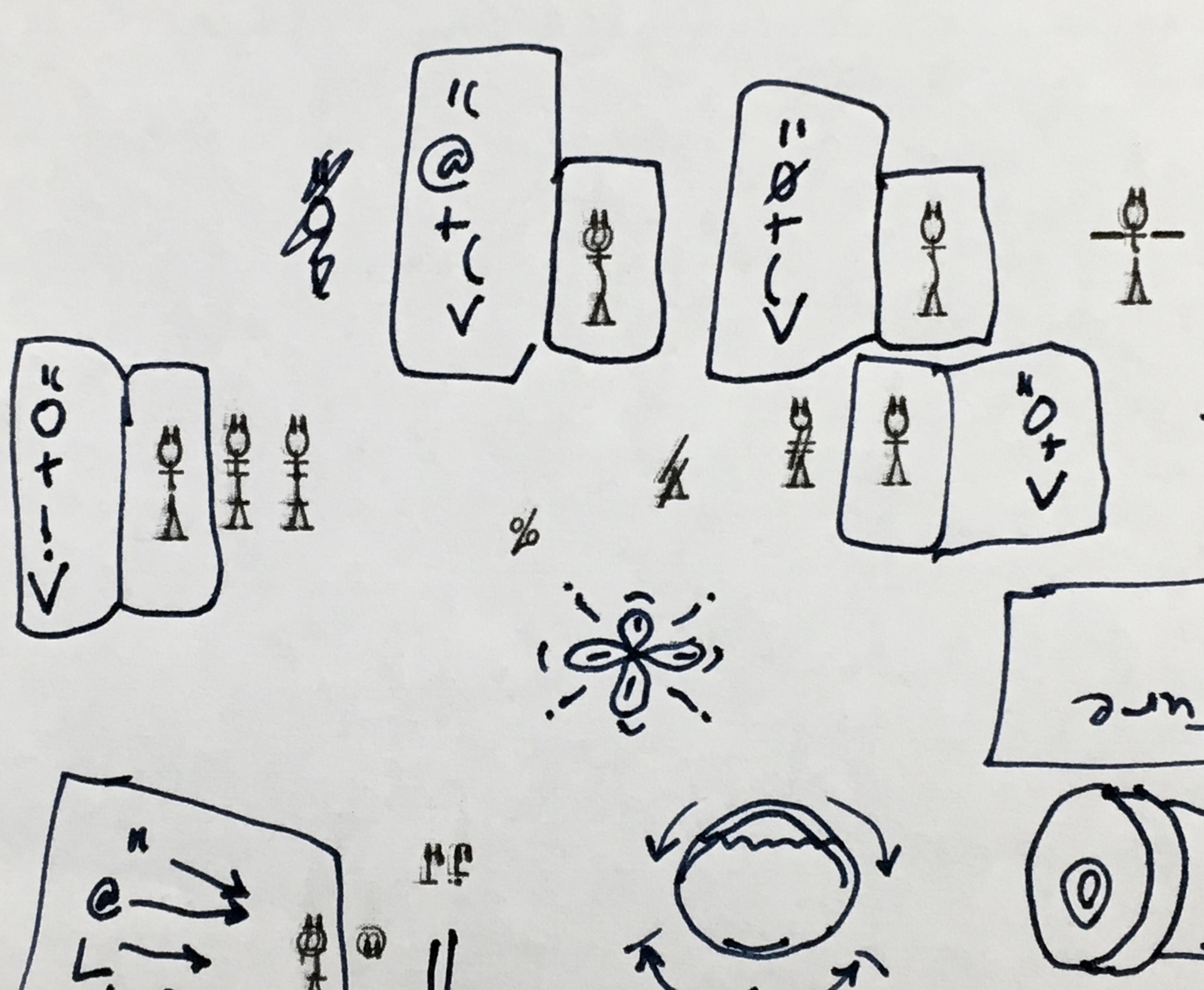 Typewritten Cartoon Characters