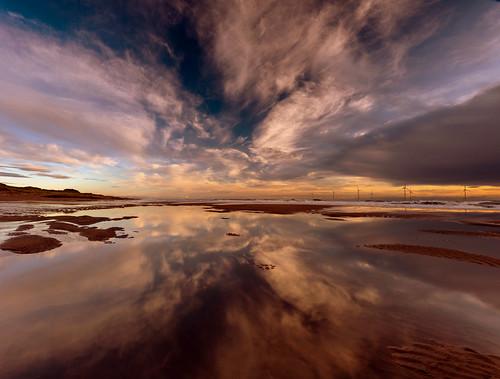 aberdeen aberdeenbeach blackdog beach water refection scotland sea sky cloud landscape sunrise sunset canon canon5d eos