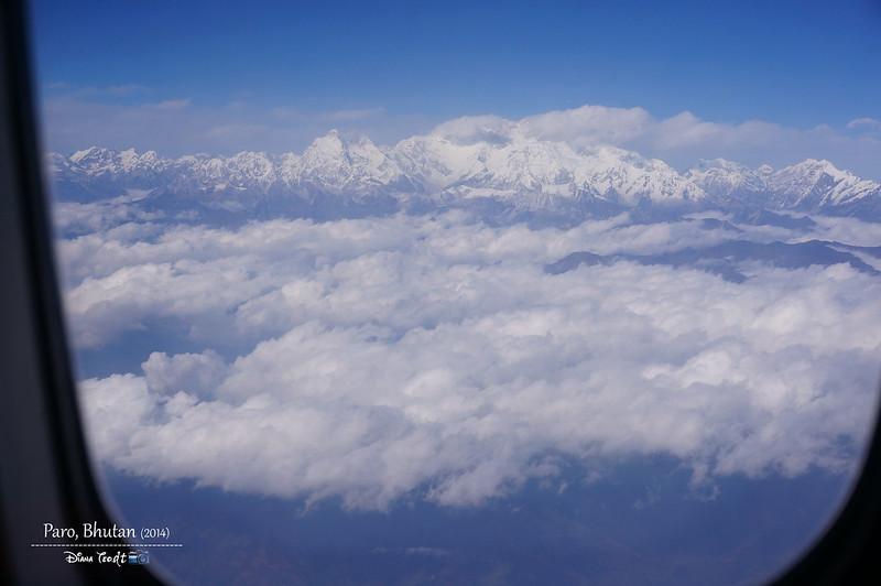 Bhutan Day 1 - Aerial View