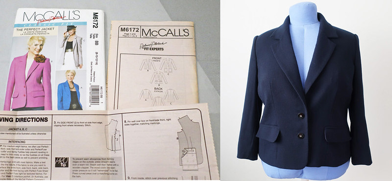 McCalls 6172 envelope and blue jacket