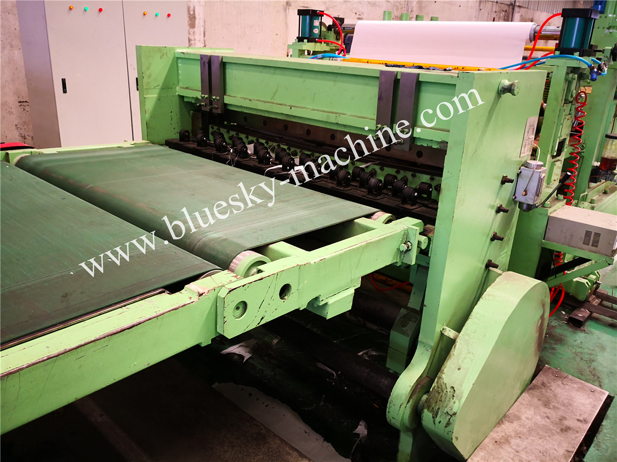 High Speed Stainless Steel Cut To Length Line Machine Conveyor