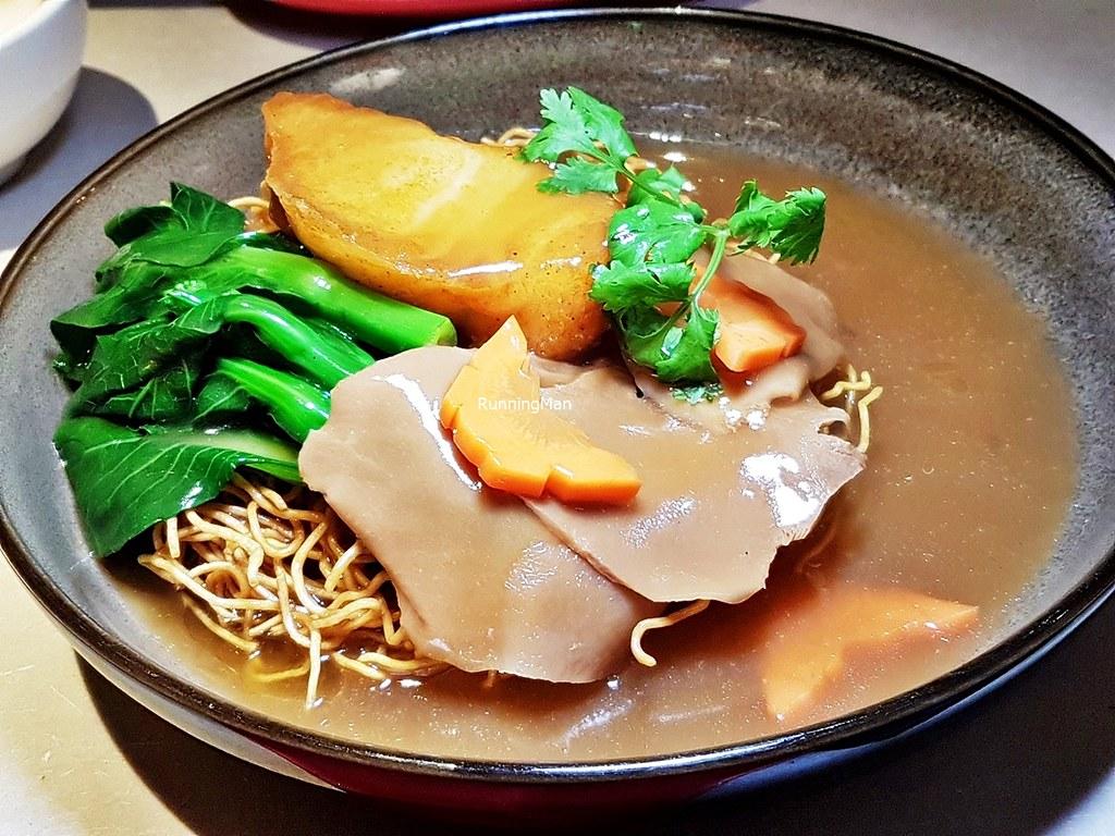 Cod Fish With Crispy Egg Noodles