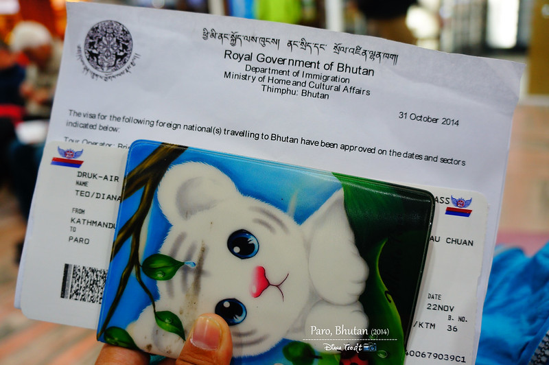Bhutan Day 1 - Department of Immigration Visa