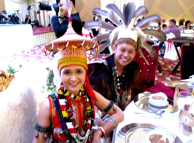 Iban warrior & Bidayuh princess