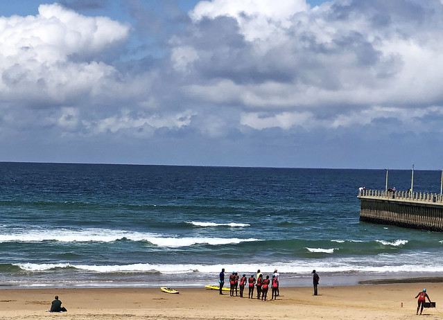 IMG_1918a Durban North Beach KwaZulu-Natal Province South Africa Indian Ocean Red Swimsuit Girls Lifeguard Training