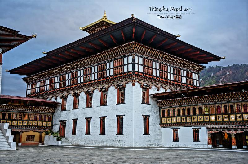 Bhutan Day 1 - Tashichho Dzong 3