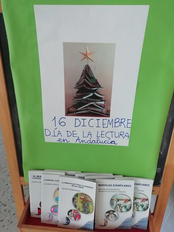 Día lectura Andalucía. Biblioteca
