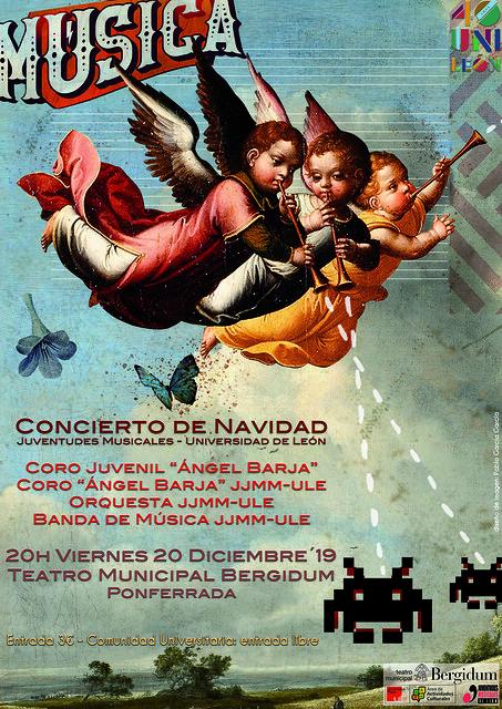 CONCIERTO DE NAVIDAD JUVENTUDES MUSICALES-UNIVERSIDAD DE LEÓN - TEATRO MUNICIPAL BERGIDUM - PONFERRADA - VIERNES 20 DE DICIEMBRE´19