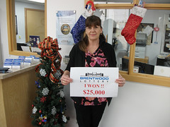 Laura Goudreau won the Early Bird Grand Prize of $25,000.