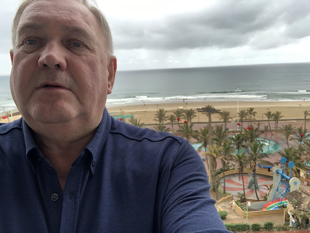 IMG_1931 Durban Beach KwaZulu-Natal Province South Africa Protea Edward Hotel by Marriott O R Tambo Parade South Beach Balcony Beautiful View of the Indian Ocean MGS Selfie