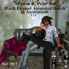 Bench Black Enamel Stone's Works