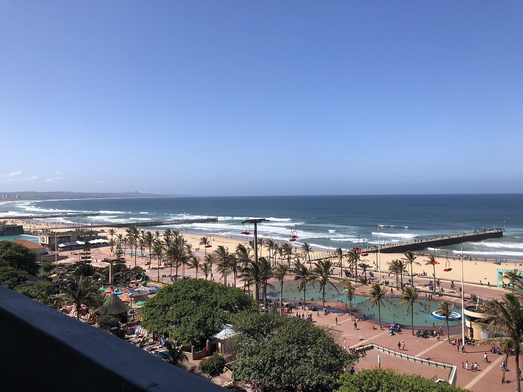 IMG_1972 Durban Beach KwaZulu-Natal Province South Africa Protea Edward Hotel by Marriott O R Tambo Parade South Beach Balcony Beautiful View of the Indian Ocean