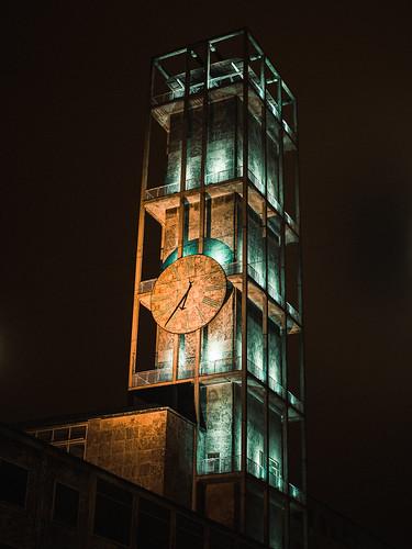 aarhus danmark denmark architecture evening nat night rådhus tower townhall tårn urban visualpoetry centraldenmarkregion
