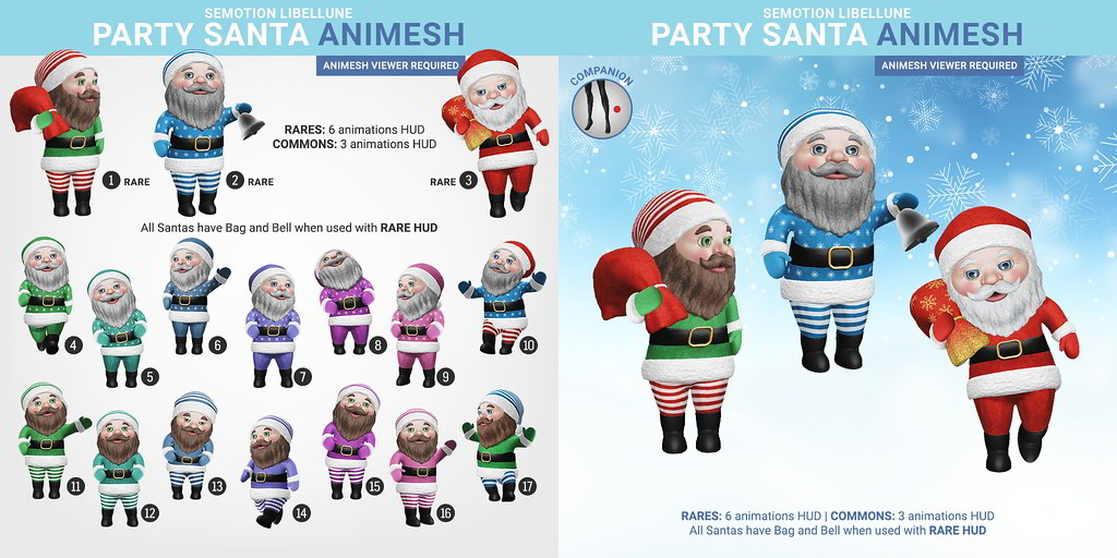SEmotion Libellune Party Santa Animesh