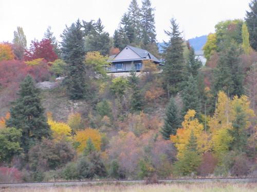 house salmon arm shuswap bc british columbia canada autumn fall