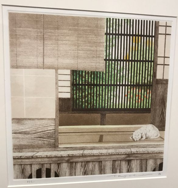 IMG_2176JapanmuseumSieboldhuisTanakaRyōheiEenZomerseKamerKleurenetsEnAquatint1986