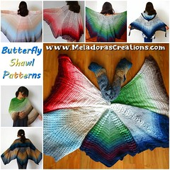 Butterfly shawl Collage