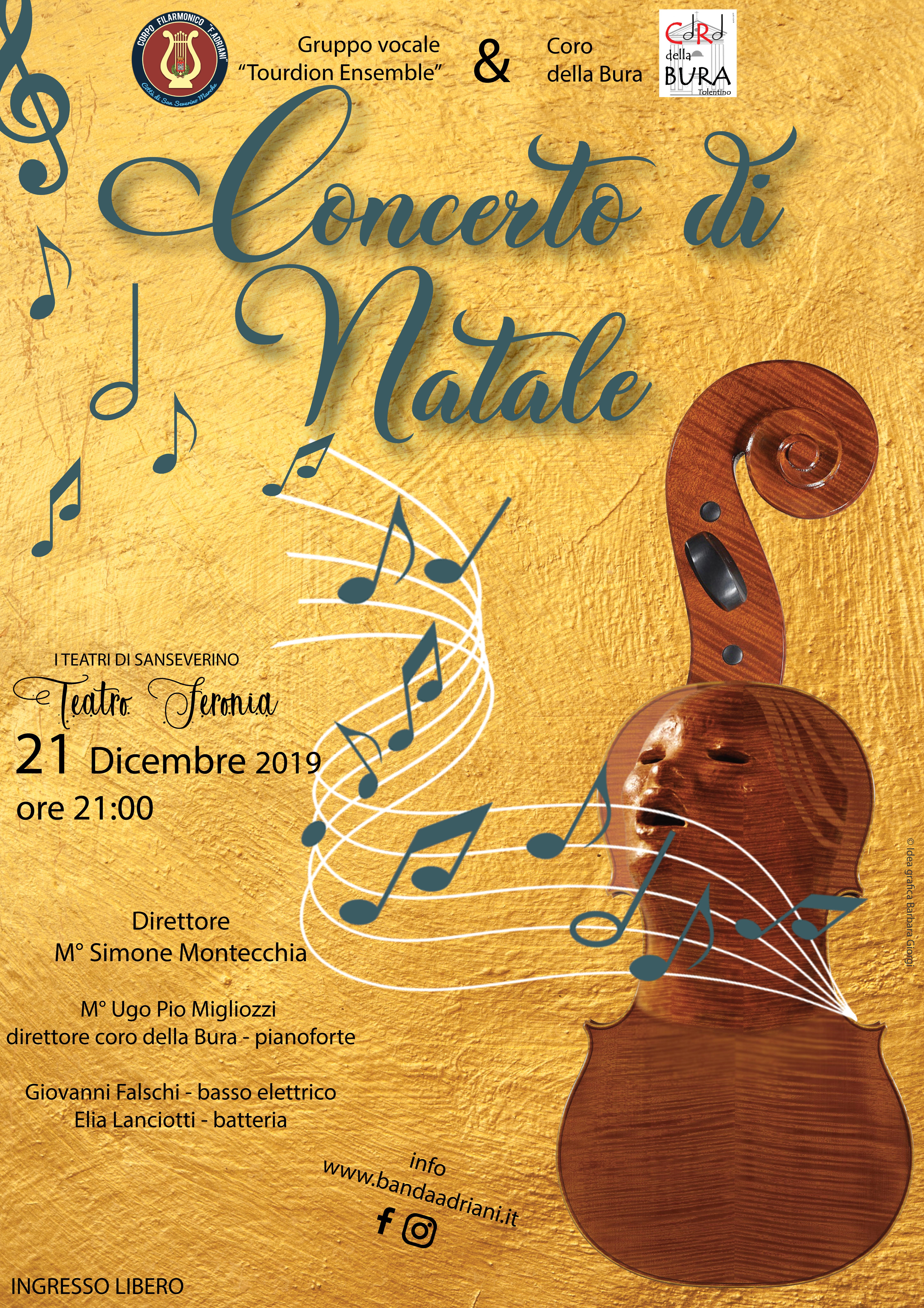 """Concerto di Natale 2019 - Gruppo vocale """"Tourdion Ensemble"""""""