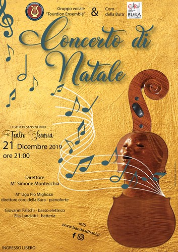 "Concerto di Natale 2019 - Gruppo vocale ""Tourdion Ensemble"" 