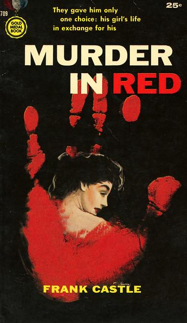 Gold Medal Books 709 - Frank Castle - Murder in Red