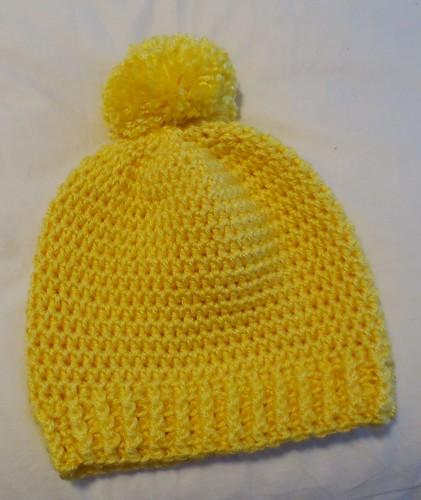 Lemon Pom Pom Hat