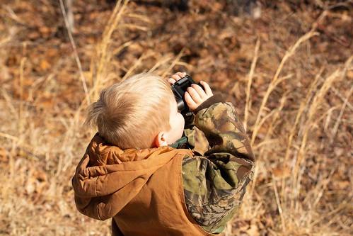 Photo of boy with binoculars