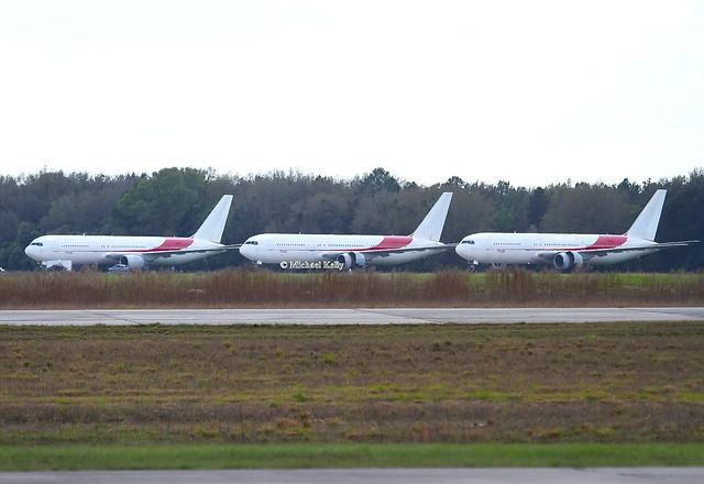 Air Algerie                               Boeing 767s                                         7T-VJG, 7T-VJI & 7T-VJH