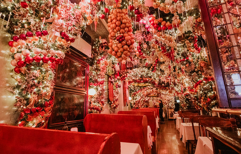 Rolf' German Restaurant Christmas Decorations NYC