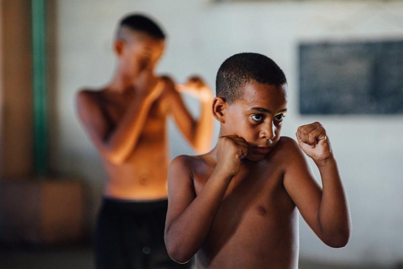 Boxing Students, CIenfuegos Cuba