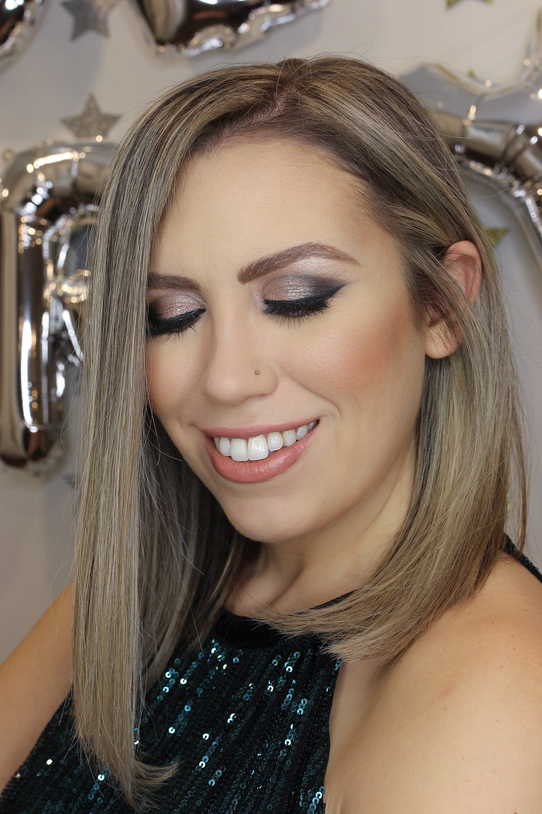 New Years Eve Party Makeup Inspiration Smokey Sparkly Eye Tutorial