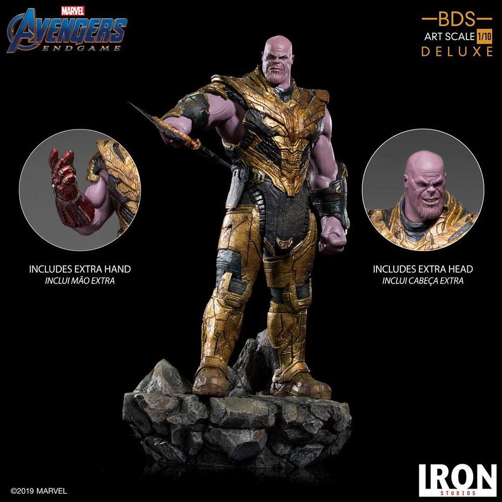 再現號令千軍萬馬進攻的魄力姿態! Iron Studios Battle Diorama 系列《復仇者聯盟:終局之戰》薩諾斯 黑暗教團 Thanos Black Order 1/10 比例決鬥場景雕像