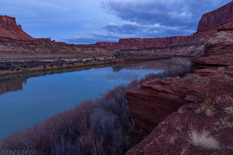 Blue Hour Along The Green River