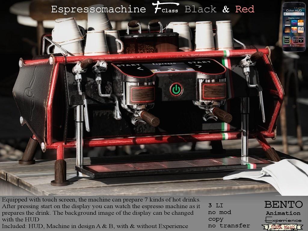 Espressomachine F-Class Black