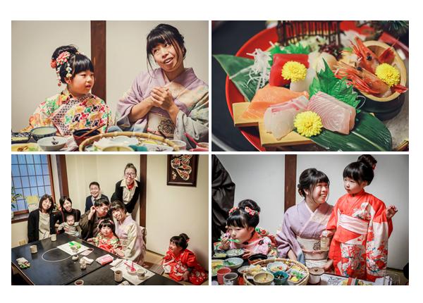 七五三参りの後の昼食会(お食事会) お刺身 太閤本店(名古屋市東区)