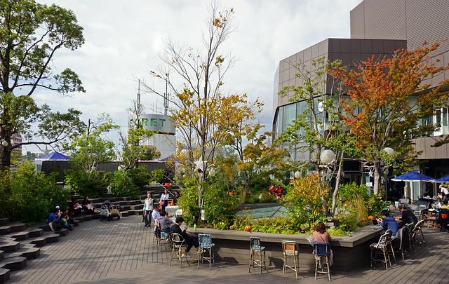Roof terrace of Tokyo Plaza Omotesando Harajuku, Tokyo
