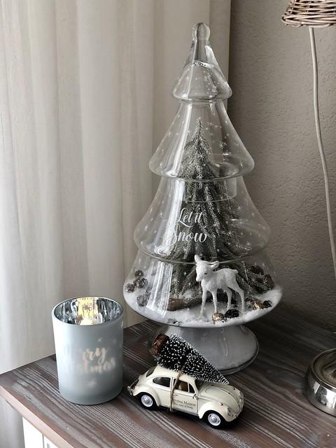 Riviera Maison glazen kerstboom auto met kerstboom