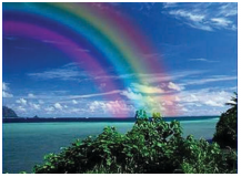 KSEEB Solutions for Class 6 English Poem Chapter 1 The Rainbow 1