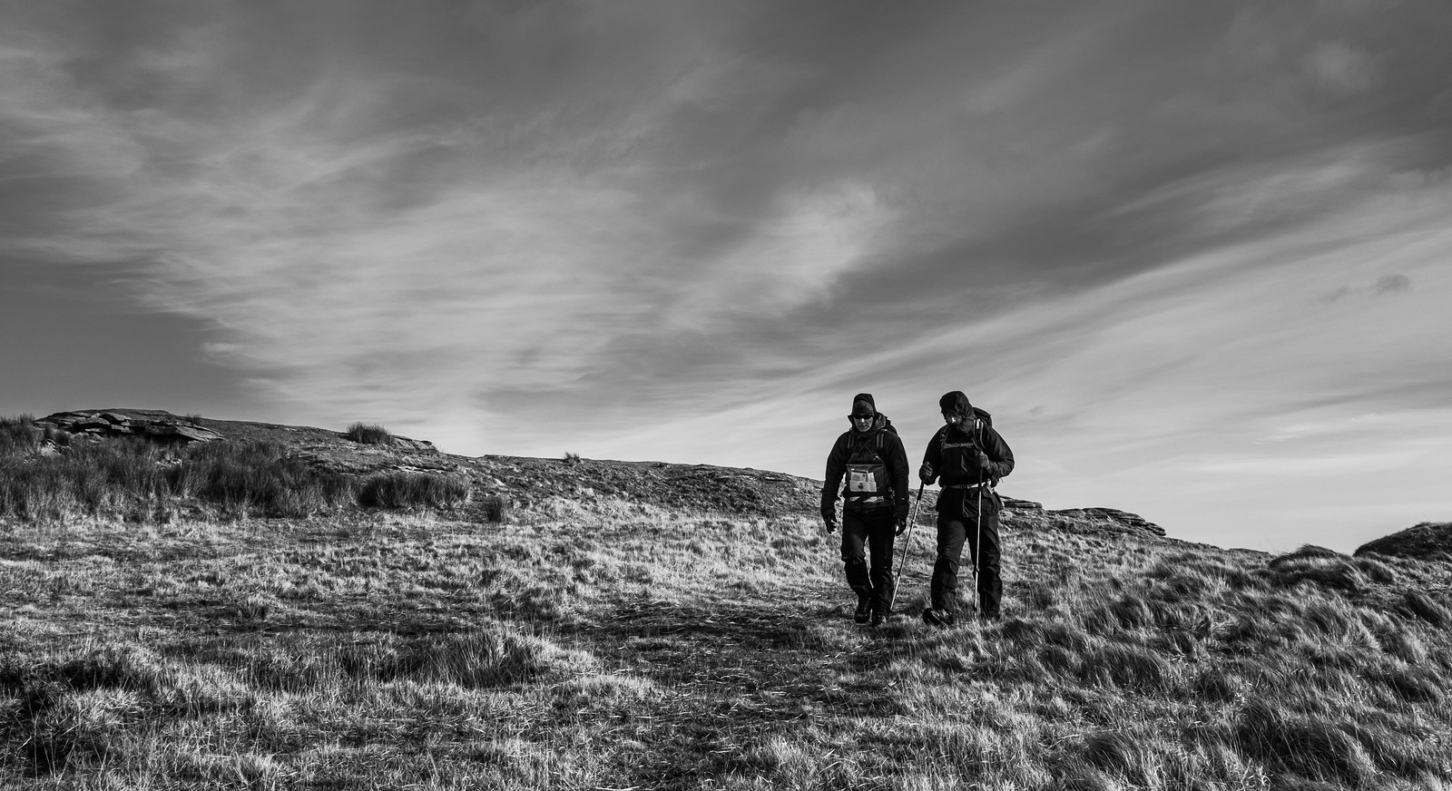Mart & Bri on a windy Dartmoor