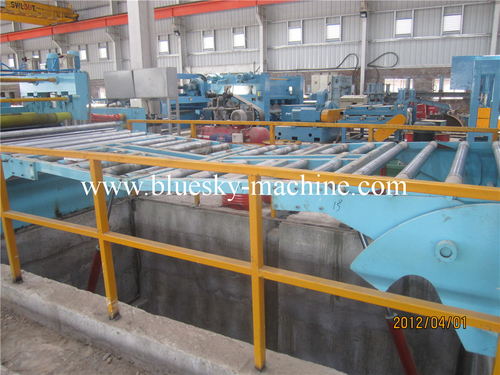 used coil cut to length line hydraulic loop pit