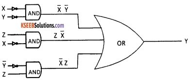 2nd PUC Computer Science Logic Gates Three Marks Questions and Answers 29