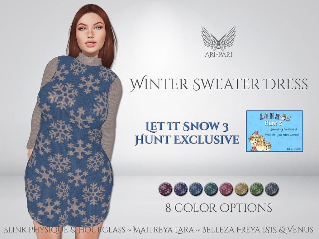 [Ari-Pari] Winter Sweater Dress